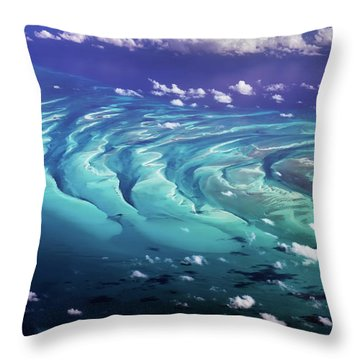 Throw Pillow featuring the photograph Island Under The Sea by Louise Lindsay