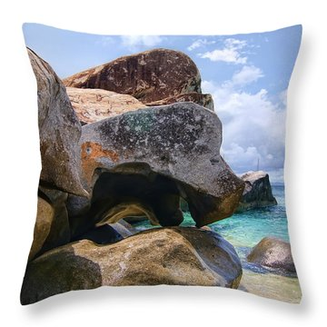 Island Virgin Gorda The Baths Throw Pillow