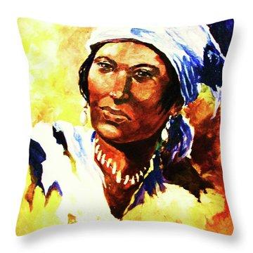 Island Woman II Throw Pillow