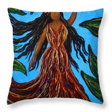 Island Woman Throw Pillow