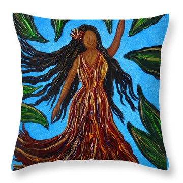 Island Woman Throw Pillow