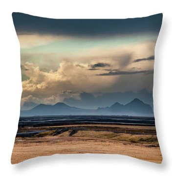Islands In The Sky Throw Pillow