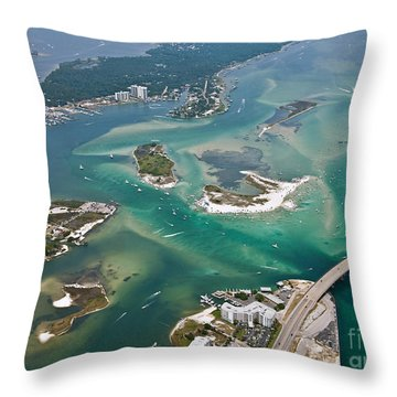 Islands Of Perdido - Not Labeled Throw Pillow