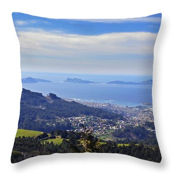 Islas Cies Throw Pillow