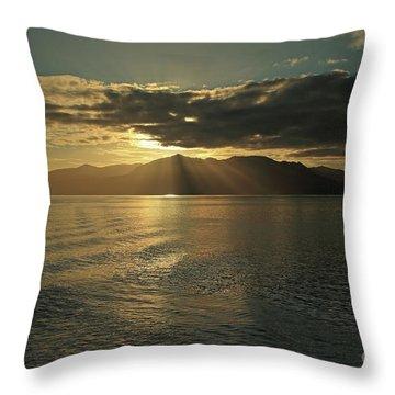 Isle Of Arran At Sunset Throw Pillow