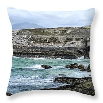 Rock Versus Water Throw Pillow