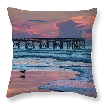 Isle Of Palms Morning Throw Pillow