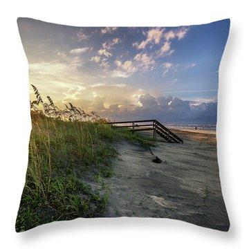 Isle Of Palms Sunstar Throw Pillow