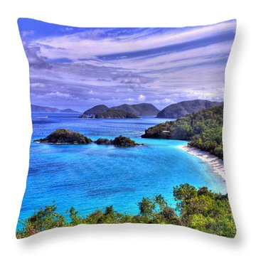 Isle Of Sands Throw Pillow by Scott Mahon