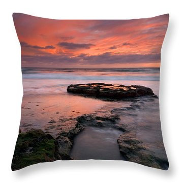 Isle Of The Setting Sun Throw Pillow by Mike  Dawson