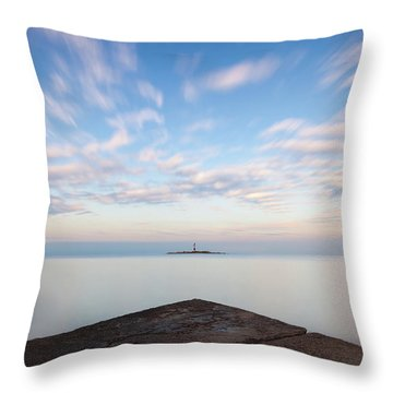Islet Baraban With Lighthouse Throw Pillow