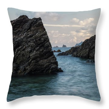 Islets At The Bottom Of The Rocks Throw Pillow
