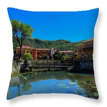 Throw Pillow featuring the photograph Isola Del Liri by Dany Lison