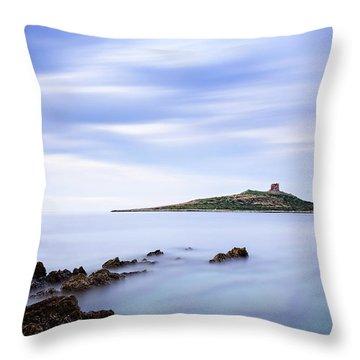 Isola Delle Femmine Throw Pillow