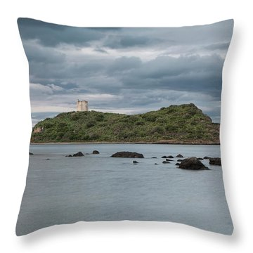 Small Island On The Sea Throw Pillow