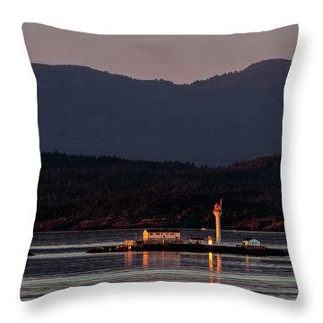 Isolated Lighthouse Throw Pillow
