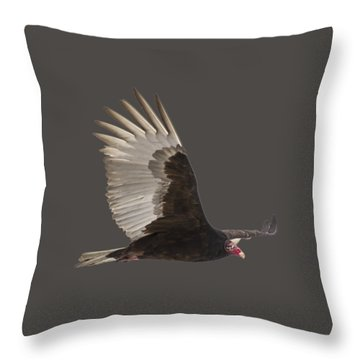 Isolated Turkey Vulture 2014-1 Throw Pillow
