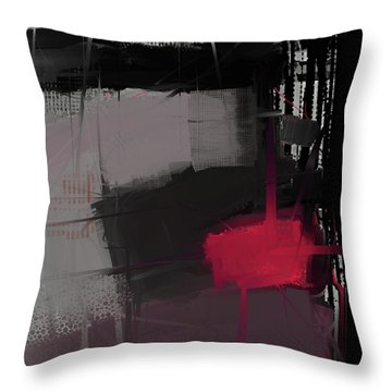 Throw Pillow featuring the mixed media Isolation by Eduardo Tavares