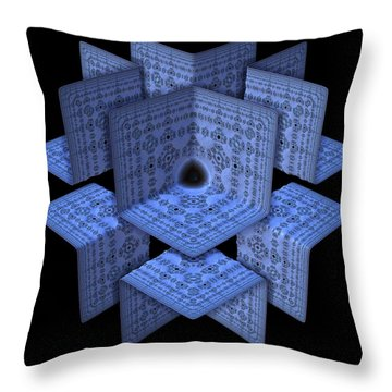 Throw Pillow featuring the digital art Isolation by Lyle Hatch
