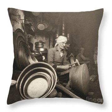 Israel: Metal Workers, 1938 Throw Pillow by Granger