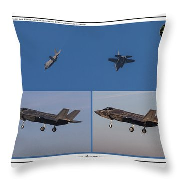 Throw Pillow featuring the digital art Israeli Air Force First Two F-35i Adir by Amos Dor
