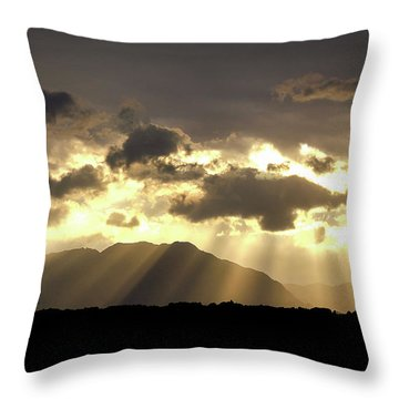 Israeli Desert Sunrise At Timna Throw Pillow by Yoel Koskas