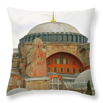 Throw Pillow featuring the photograph Istanbul Dome by Munir Alawi