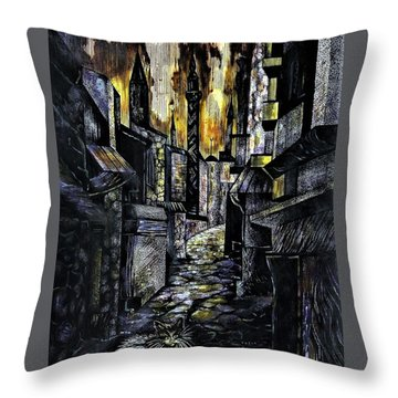Istanbul Impressions. Lost In The City. Throw Pillow