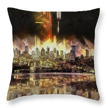 Istanbul In My Mind Throw Pillow by Kai Saarto