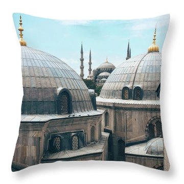 Istanbul Mosque Throw Pillow