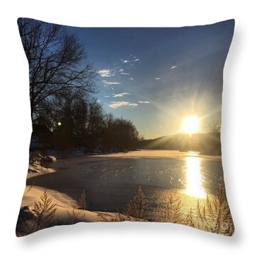 iSunset Throw Pillow