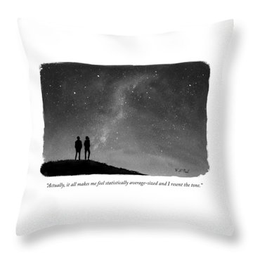 It All Makes Me Feel Statistically Average Throw Pillow
