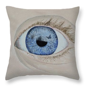 Throw Pillow featuring the painting ...it Begins by Kevin Daly