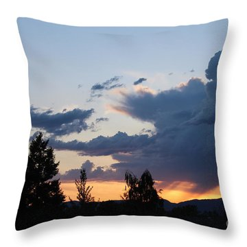Throw Pillow featuring the photograph It Cometh by Marie Neder