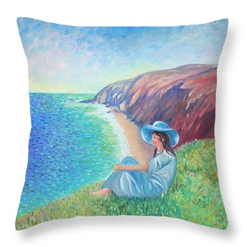 Throw Pillow featuring the painting It Could Be Me by Elizabeth Lock