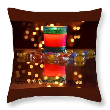 Throw Pillow featuring the photograph It Feels Like Christmas by Rima Biswas