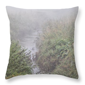 Throw Pillow featuring the photograph It Flows From The Mist by Odd Jeppesen