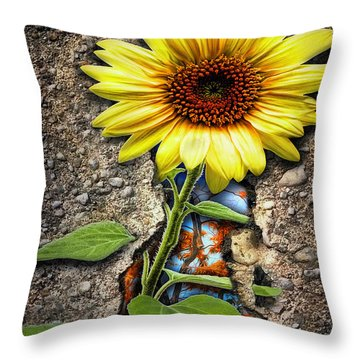 It Grew From Within Throw Pillow