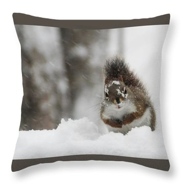 It Is Cold Out Here Throw Pillow