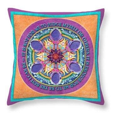 It Is Enough Mandala Prayer Throw Pillow