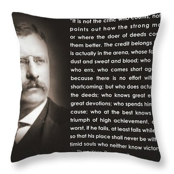 It Is Not The Critic Throw Pillow