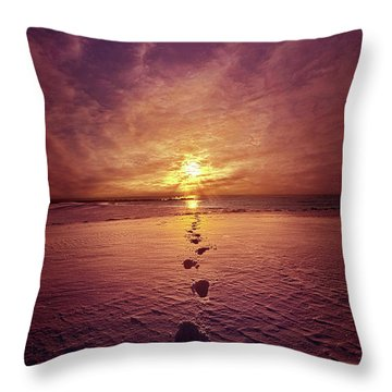 Throw Pillow featuring the photograph It Is Then That I Carried You by Phil Koch