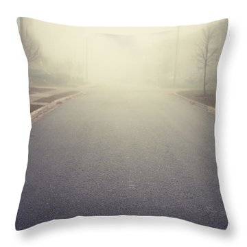 It Is Unclear What Lies Ahead Throw Pillow