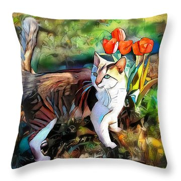 Throw Pillow featuring the digital art It Must Be Spring by Pennie McCracken