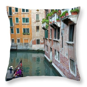 It Must Be Venice Throw Pillow by Janet Fikar