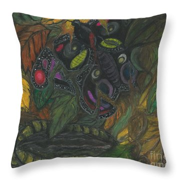 Ania M Milo Abstract Throw Pillows