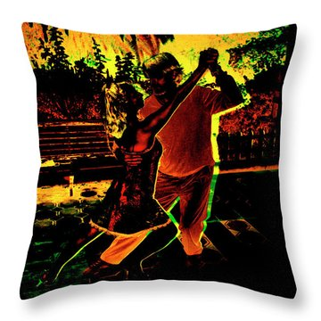 Throw Pillow featuring the photograph It Takes Two To Tango by Al Bourassa