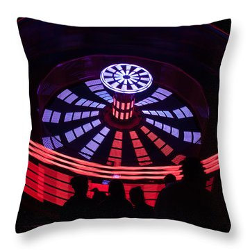 Throw Pillow featuring the photograph It Was All A Happy Blur by Lora Lee Chapman