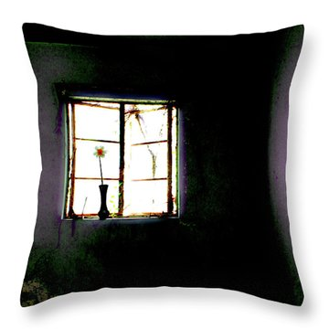 Throw Pillow featuring the photograph It Was Her Room... by Gray  Artus