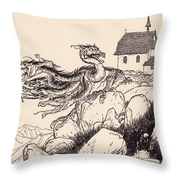 It Was Not Long Before The Seven Headed Throw Pillow